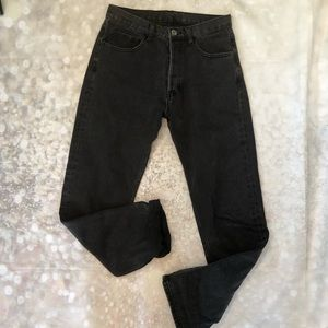 John Galt High Waisted Baggy Black Jeans Melville